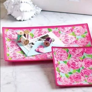 Lilly Pulitzer Large Glass Catchall Tray